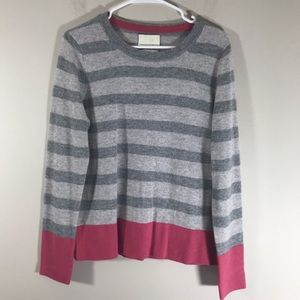 Cynthia Rowley 2-ply cashmere pink gray sweater
